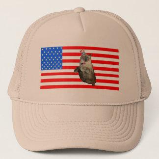 4th of July Cat Trucker Hat