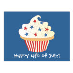 4th of July Cupcake Postcard
