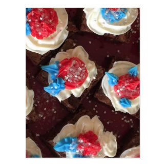 4th of July cupcakes Postcard