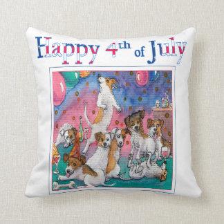 4th of July, designer cushion for dog lover