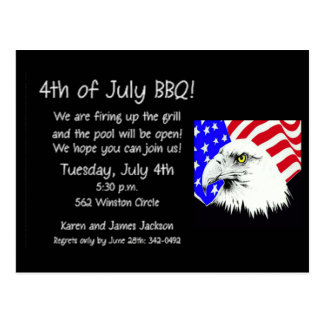 4th of July Eagle Postcard