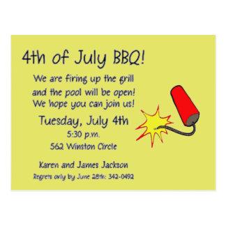 4th of July Firecracker Postcard