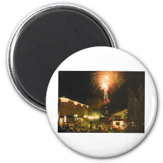 4th of July Fireworks Aspen CO 6 Cm Round Magnet