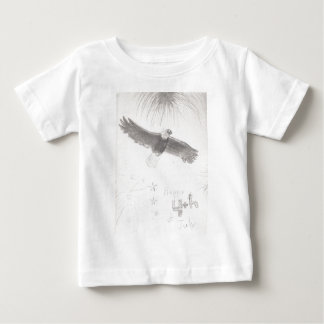 4'th of july fireworks bald eagle drawing eliana.j baby T-Shirt