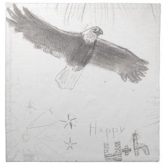 4'th of july fireworks bald eagle drawing eliana.j napkin