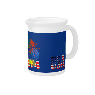 4th of July Fireworks Beverage Pitchers
