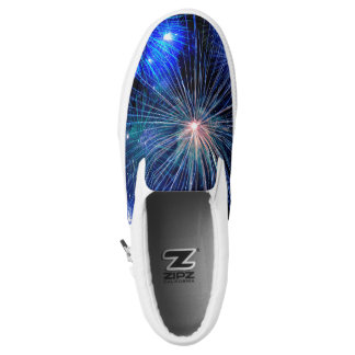 4th of July Fireworks in Blue Hue Happy 4th Printed Shoes