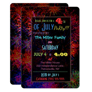 4th of July Fireworks Invitation