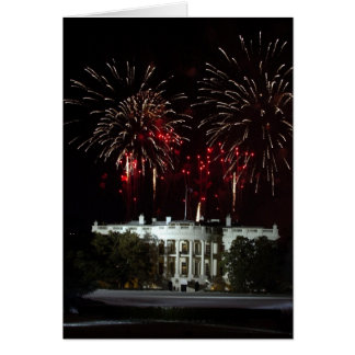4th of July Fireworks over the White House Card