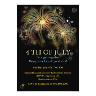 4th of July Fireworks Party Invitations