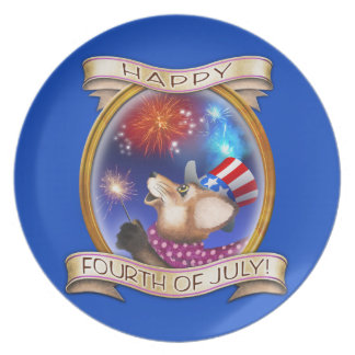 4th of July - Frieda Tails collectible plate