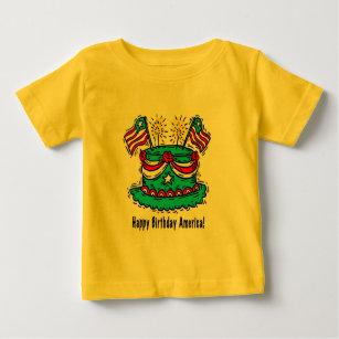 4th Of July Happy Birthday America Baby T Shirt