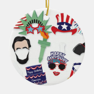 4th of July holiday - Independence Day Ceramic Ornament