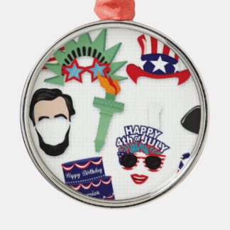 4th of July holiday - Independence Day Metal Ornament