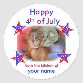 4th of July Homemade Baked Goods Stickers