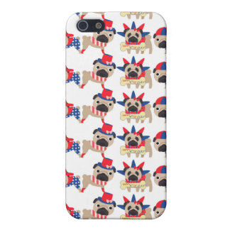 4th of July Independece Day Pugs iPhone 5 Cases