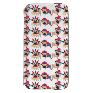 4th of July Independece Day Pugs Incipio Watson™ iPhone 6 Wallet Case