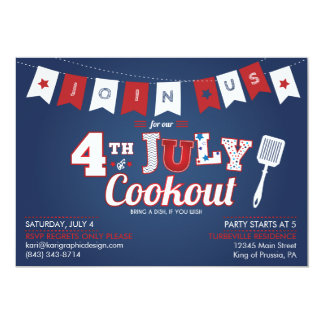 4th of July - Independence Day Party Invitation