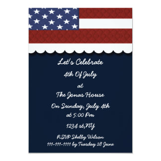 4th of july independence day party invites