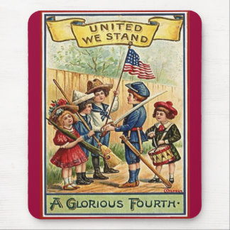 4th of July kids vintage Mouse Pad