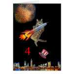 4th of July Kitty Greeting Card