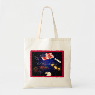 4th of July montage tote
