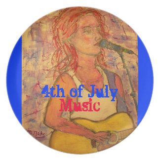 4th of July Music Plates
