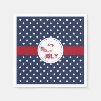 4th of July napkins- 1 Paper Napkins
