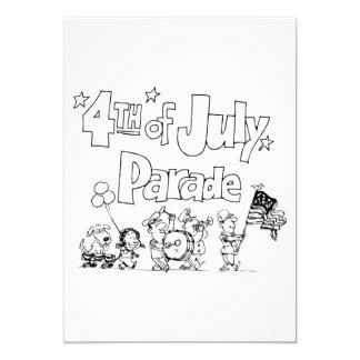 4th Of July Parade Invitations