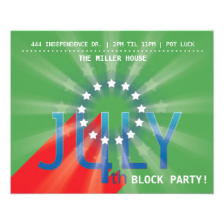 4th of July Party 11.5 Cm X 14 Cm Flyer