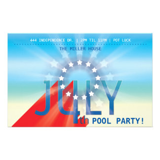 4th of July Party 14 Cm X 21.5 Cm Flyer