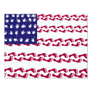 """4th of July Party 4.25"""" X 5.5"""" Invitation Card"""
