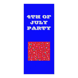 4th of July>.Party Invitation