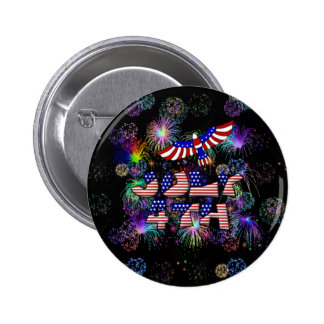 4th of July Party Pin