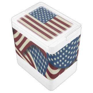 4TH Of July Party Red White And Blue American Flag Cooler
