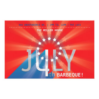 4th of July Party (red, white & blue) 14 Cm X 21.5 Cm Flyer