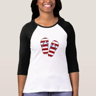 4th of July Patriotic American Flag Flip Flops Tees