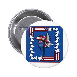 4th of July Patriotic Pin Wheel