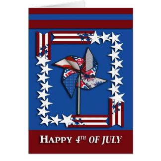 4th of July, Patriotic Pin Wheel Card