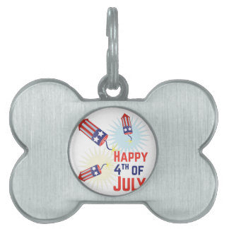 4th of July Pet ID Tags
