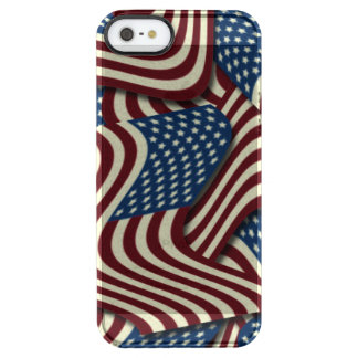 4TH Of July  Red White And Blue American Flag Clear iPhone SE/5/5s Case