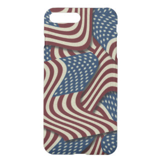 4TH Of July  Red White And Blue American Flag iPhone 7 Plus Case