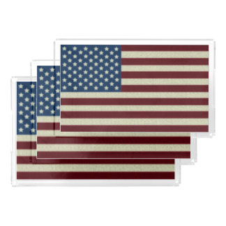 4TH Of July Red White And Blue American Flags