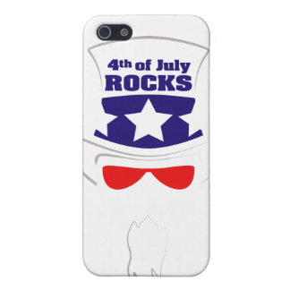 """""""4th of July ROCKS"""" Casing iPhone 5/5S Covers"""