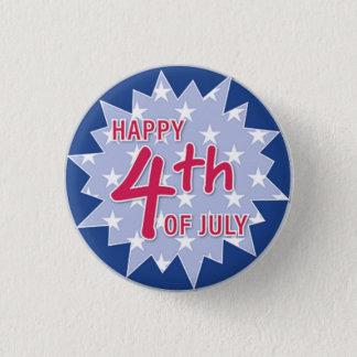 4th of July-Round Button... 3 Cm Round Badge