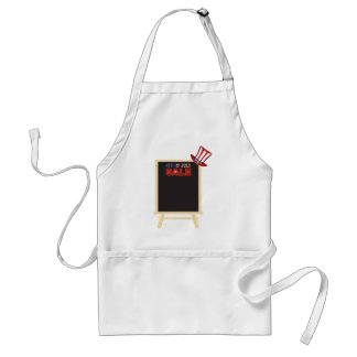 4th of July SALE sign board with Hat Illustration Standard Apron