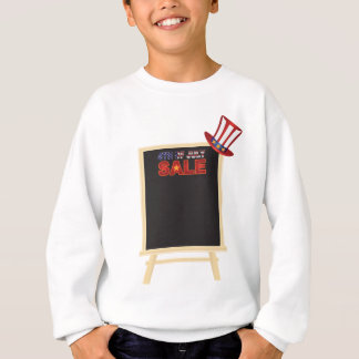 4th of July SALE sign board with Hat Illustration Sweatshirt