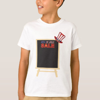 4th of July SALE sign board with Hat Illustration T-Shirt