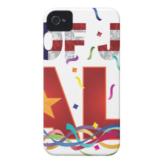 4th of July Sale Text with US Flag Confetti iPhone 4 Covers