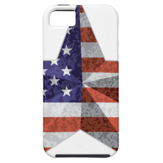 4th of July Star Outline with USA Flag Texture Case For The iPhone 5